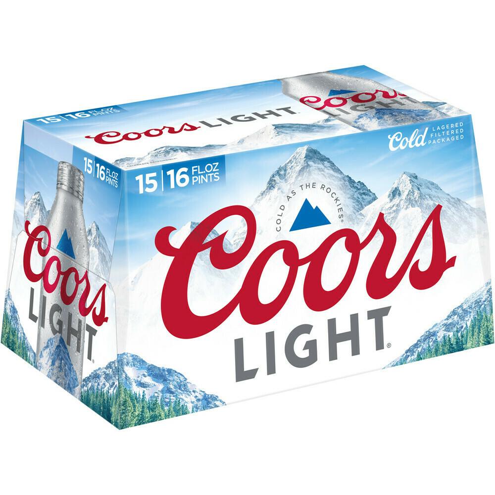Coors Lt 15pk alum btl
