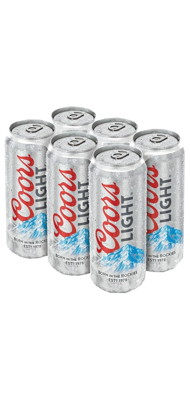 Coors Lt 6pk can