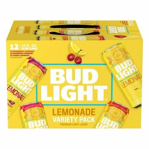 Bud Lt Lemonade Variety Beer 12pk can