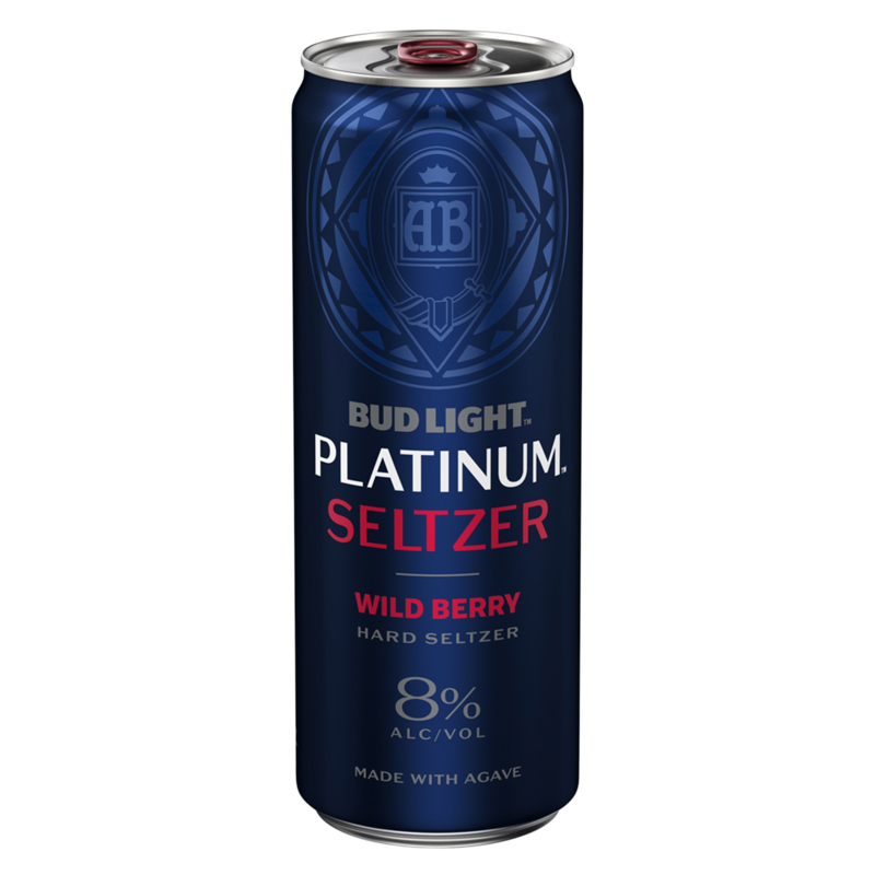Bud Lt Platinum Seltzer Wild Berry 12oz can single
