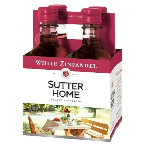 Sutter Home White Zin 4pk 187ml