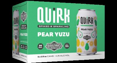 Quirk Pear Yuzu 6pk can