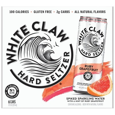 White Claw Ruby Grapefruit 6pk cans