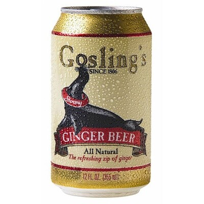 Goslings Ginger Beer NA 6pk can