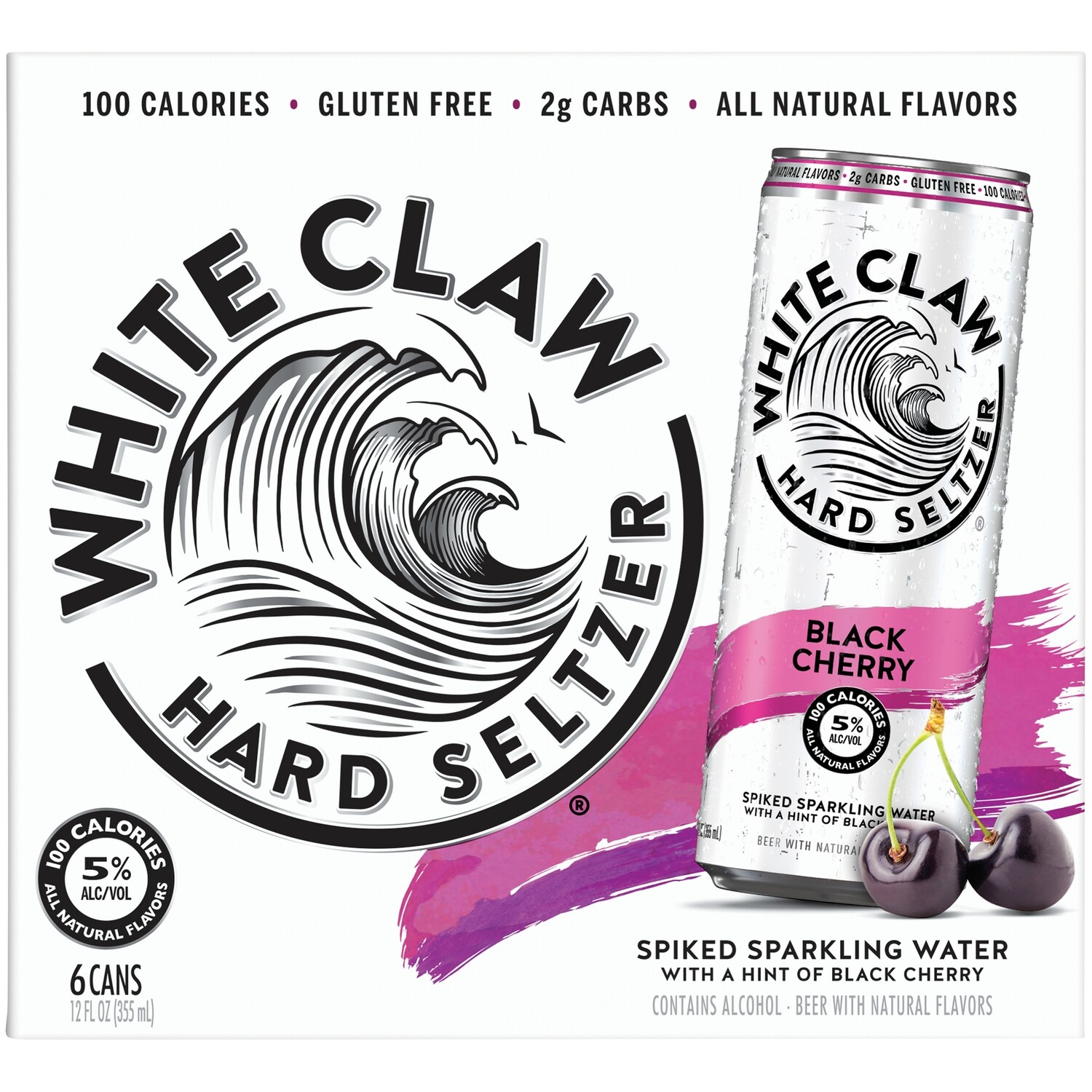 White Claw Blk.Cherry 6pk Cans