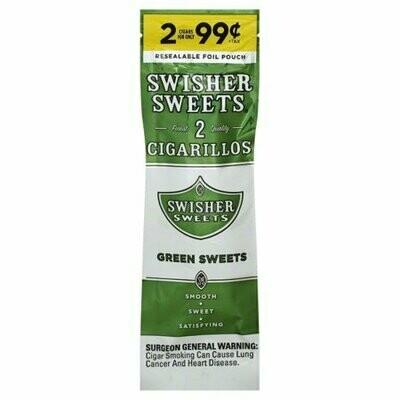 Swisher Green Sweet 2pk