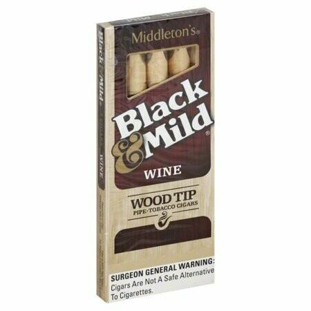 Black & Mild Wine Wood Tip 5pk