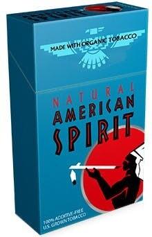 American Spirit Turquoise King Box