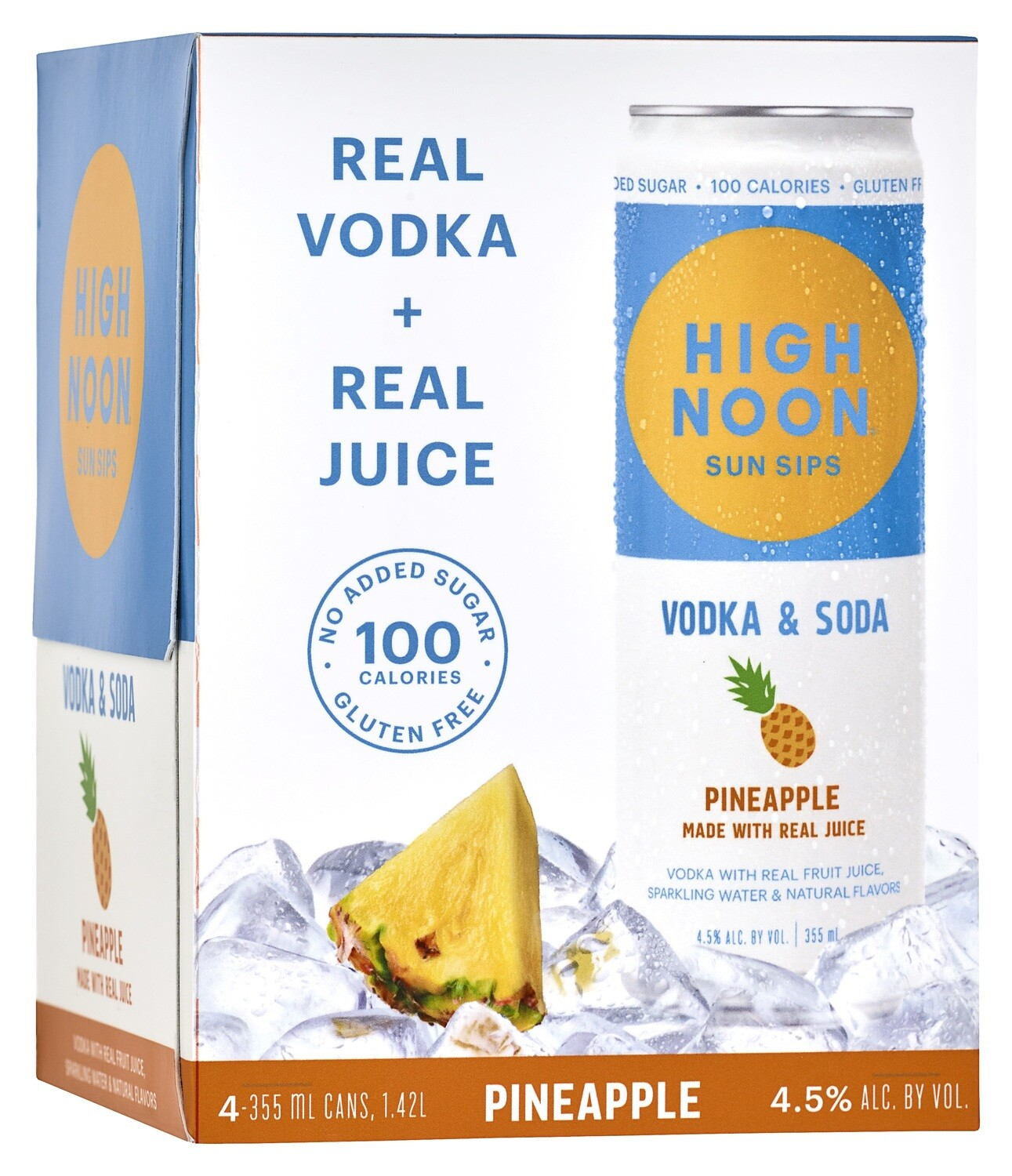 High Noon Pineapple 4pk can