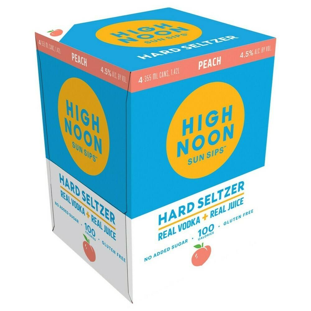 High Noon Peach 4pk can
