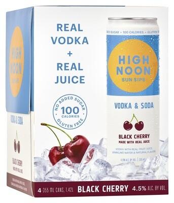 High Noon Black Cherry 4pk can
