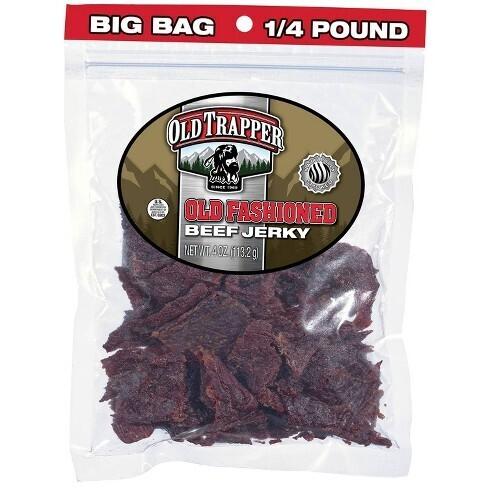 Old Trapper Original Beef Jerky 4oz bag