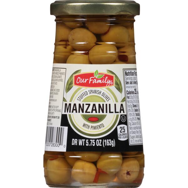 Our Family Manzanilla Olives 5.75oz