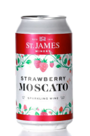 St. James Strawberry Moscato 375mL can