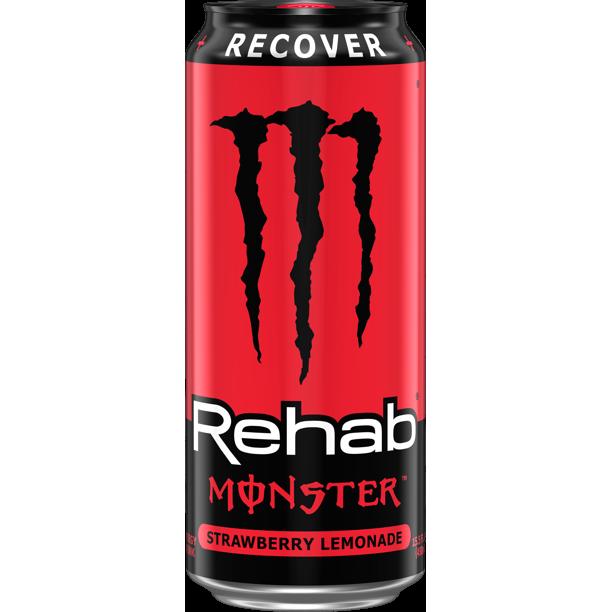 Monster Rehab Strawberry Lemonade 15oz can