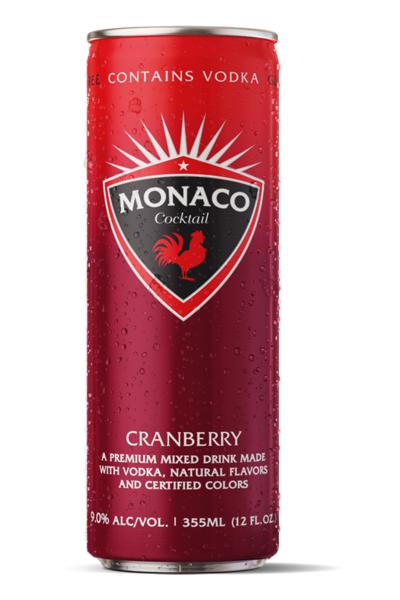 Monaco Cranberry 12oz can