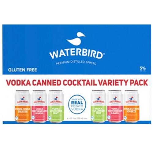 Waterbird Vodka Variety 6pk can
