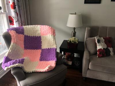 Chenille Lap Blanket- Patchwork