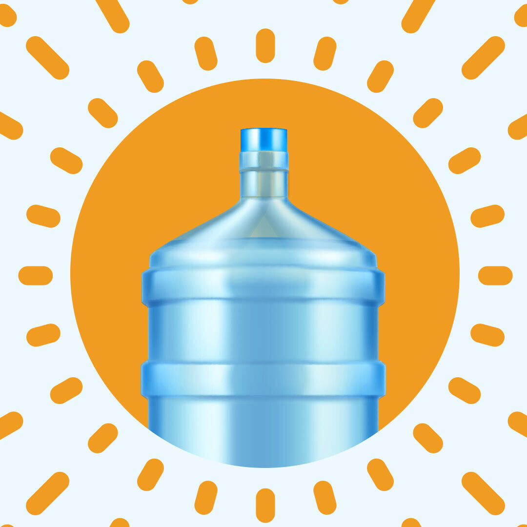 При заказе через мобильное приложение - 19 л воды в подарок!