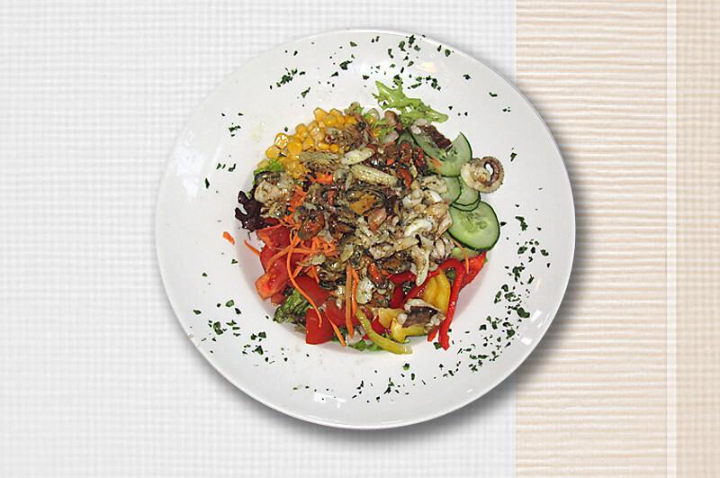 Salatschüssel mit Frutti di Mare
