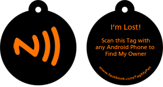 Smart Phone Enabled Electronic Pet Tag