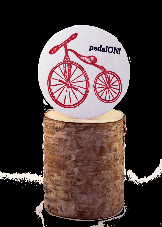 Pedal ON! Bike Coasters :: Stunning Set of Six