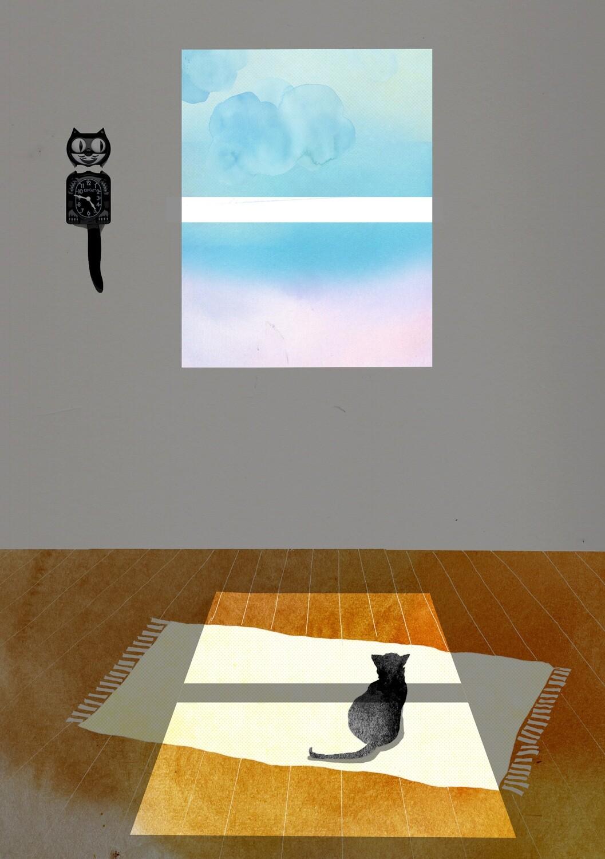 Cat Window A5