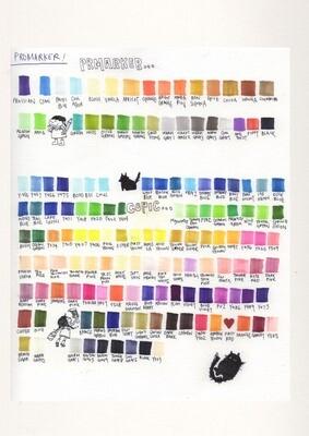 Colour Chart A4