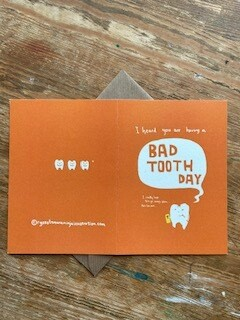 Bad Tooth day Greetings cards