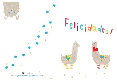 Alpaca Felicidades! With envelope