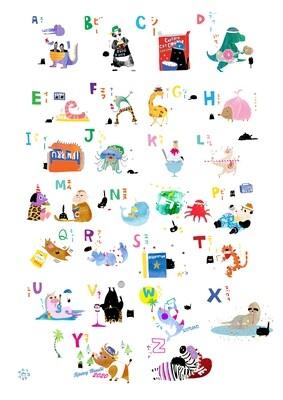 Alphabet Animal Poster A4