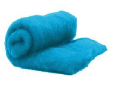 Perendale Wool  -- Carded Batt --  Azure