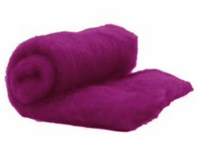 Perendale Wool  -- Carded Batt --  Boysenberry