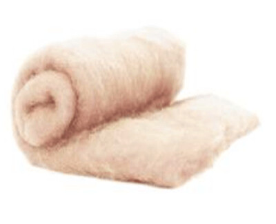 Perendale Wool  -- Carded Batt --  Light Skin