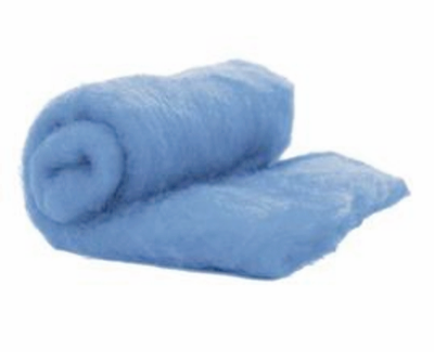 Perendale Wool  -- Carded Batt --  Light Blue