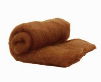 Perendale Wool  -- Carded Batt --  Sienna