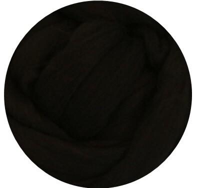 Fine Merino Wool Roving -- Black