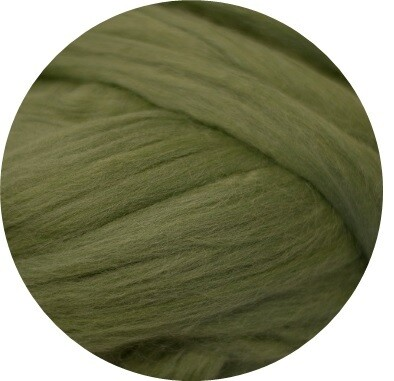 Fine Merino Wool Roving -- Fern