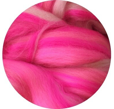 NEW! Fine Merino Wool Roving -- Pink Party!