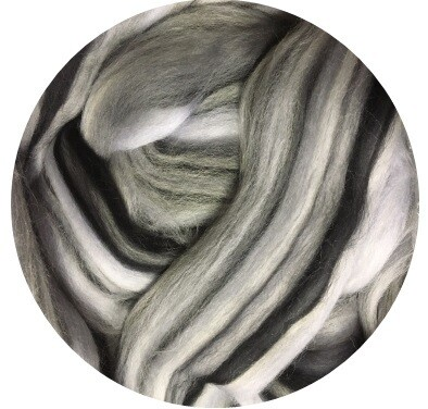 NEW! Fine Merino Wool Roving -- Zippy Zebra
