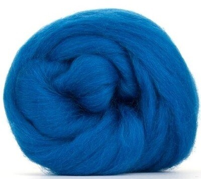 NZ Corriedale Wool Roving --  Bluegreen