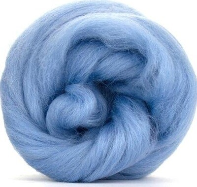 NZ Corriedale Wool Roving --  Sky