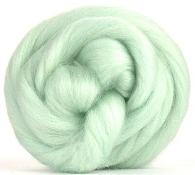 NZ Corriedale Wool Roving -- Celadon