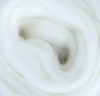 NZ Corriedale Wool Roving --  White