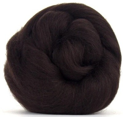 NZ Corriedale Wool Roving --  Espresso