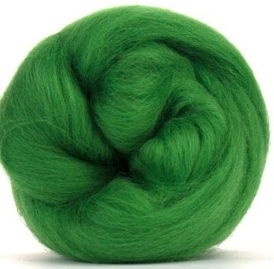 NZ Corriedale Wool Roving -- Fern