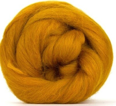 NZ Corriedale Wool Roving -- Amber