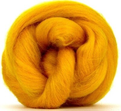 NZ Corriedale Wool Roving --  Marigold