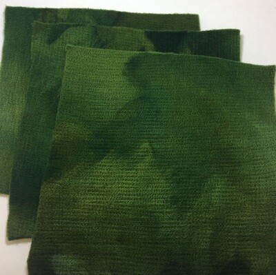 Handmade 100% Wool Felt -- Camouflage Green
