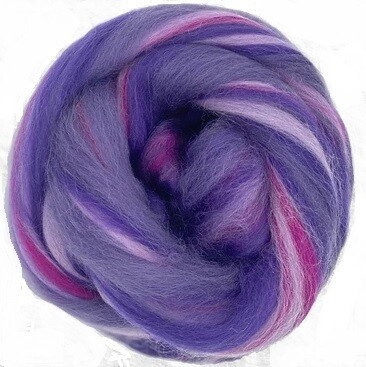 Fine Merino Wool Roving -- NEW! Galaxy
